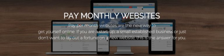Pay monthly websites